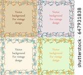set of frames from primroses | Shutterstock .eps vector #647931838