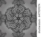 elegant vector classic pattern. ... | Shutterstock .eps vector #647939374