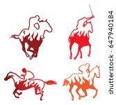 horse racehorse silhouette