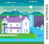 modern prefabricated family... | Shutterstock .eps vector #647941810