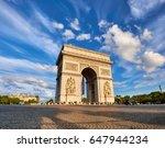 arc de triumph in paris  france ... | Shutterstock . vector #647944234
