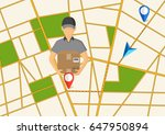 service of fast delivery.... | Shutterstock .eps vector #647950894