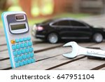 car and calculator. cost of... | Shutterstock . vector #647951104