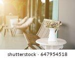 condominium of balcony with... | Shutterstock . vector #647954518