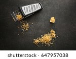 delicious cheese and grater on... | Shutterstock . vector #647957038