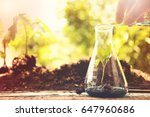 work desk of scientist working... | Shutterstock . vector #647960686