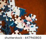 puzzle table | Shutterstock . vector #647960803