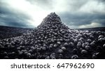 heap of skulls. apocalypse and... | Shutterstock . vector #647962690
