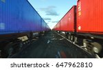 freight train with cargo... | Shutterstock . vector #647962810
