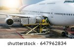 preparing the aircraft before... | Shutterstock . vector #647962834
