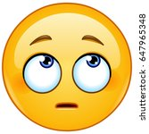 emoticon face with rolling eyes | Shutterstock .eps vector #647965348