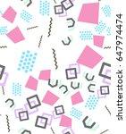 geometric seamless vector... | Shutterstock .eps vector #647974474