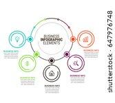 business infographics template | Shutterstock .eps vector #647976748
