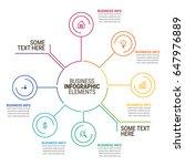business infographics template   Shutterstock .eps vector #647976889