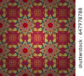 tribal  boho  bohemian style ... | Shutterstock . vector #647978788