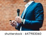 business and speech topic  man... | Shutterstock . vector #647983060