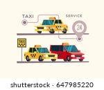 taxi service concept. vector... | Shutterstock .eps vector #647985220