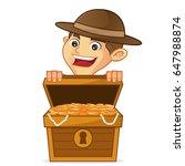 boy scout cartoon opening... | Shutterstock .eps vector #647988874