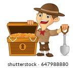 boy scout cartoon finding... | Shutterstock .eps vector #647988880