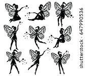 vector drawing of a fairy  elf | Shutterstock .eps vector #647990536