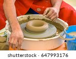 clay modeling pottery | Shutterstock . vector #647993176