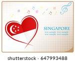 heart logo made from the flag...   Shutterstock .eps vector #647993488