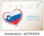 heart logo made from the flag...   Shutterstock .eps vector #647993494