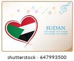 heart logo made from the flag...   Shutterstock .eps vector #647993500