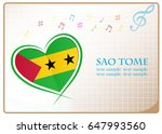 heart logo made from the flag...   Shutterstock .eps vector #647993560
