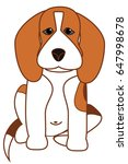 illustration of a beagle dog is ...   Shutterstock .eps vector #647998678