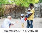 caucasian female doctor... | Shutterstock . vector #647998750