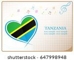 heart logo made from the flag...   Shutterstock .eps vector #647998948