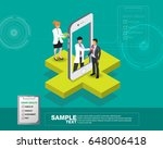 isometric smart mobile health... | Shutterstock .eps vector #648006418
