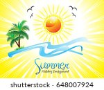 abstract artistic summer...   Shutterstock .eps vector #648007924