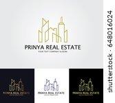 real estate logo   Shutterstock .eps vector #648016024