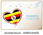 heart logo made from the flag...   Shutterstock .eps vector #648016468