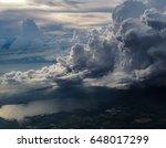 huge storm cloud  tower cumulus ...   Shutterstock . vector #648017299