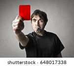 angry referee  | Shutterstock . vector #648017338