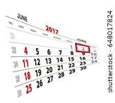 june 2  highlighted on 2017...   Shutterstock .eps vector #648017824