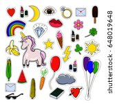 patches collection isolated on... | Shutterstock .eps vector #648019648