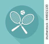 tennis icon | Shutterstock .eps vector #648021130