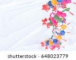 plastic dna's model that... | Shutterstock . vector #648023779