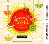 banner summer sale. tasty... | Shutterstock .eps vector #648027388