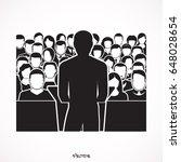 public speaker standing behind...   Shutterstock .eps vector #648028654
