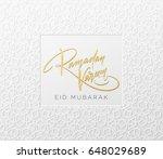 gold glitter lettering ramadan...   Shutterstock .eps vector #648029689