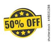 50  off. flat vector badge icon ...   Shutterstock .eps vector #648031288