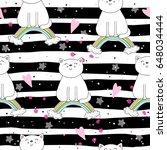 hand drawn seamless pattern...   Shutterstock .eps vector #648034444