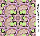 trendy seamless floral pattern. ...   Shutterstock .eps vector #648035044