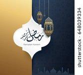 ramadan kareem design... | Shutterstock .eps vector #648039334
