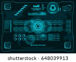 futuristic virtual graphic... | Shutterstock .eps vector #648039913